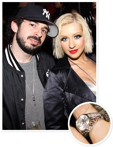 Christina Aguilera and Jordan Bratman  Music exec Jordan Bratman proposed to pop star Christina Aguilera with a 20-carat diamond ring in 2005