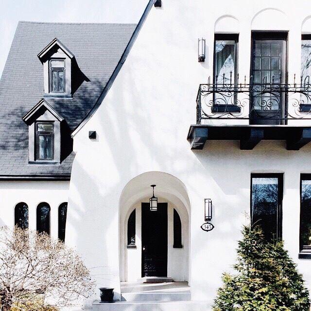 Black White Tudor Exterior House Exterior Facade House