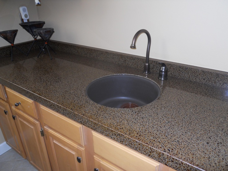 What A Beautiful Bar From Granite Transformations Of St. Louis. Recycled  Glass Countertops!