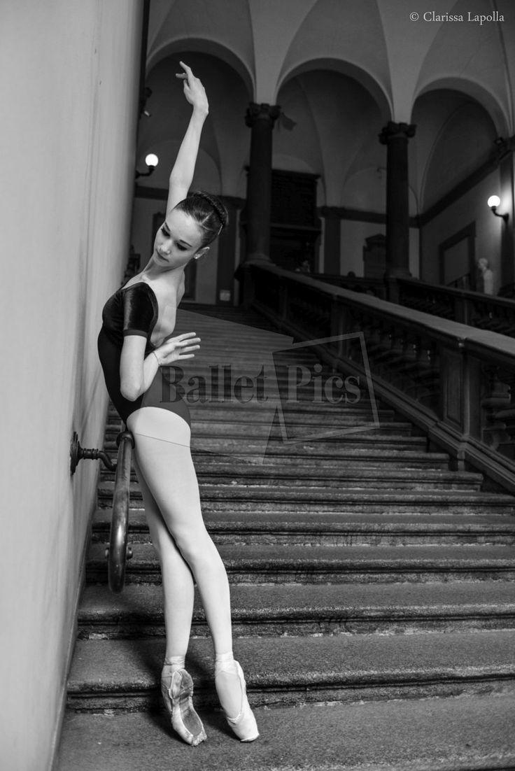 "C. Lapolla, ""Ballerina on pointe in staircase"" - BalletPics.net"
