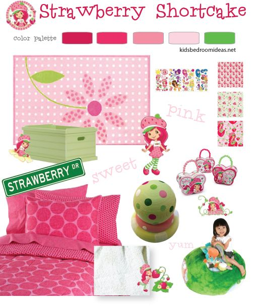 Strawberry Shortcake Bedroom Decor: 30 Curated Strawberry Shortcake Bedroom Ideas By