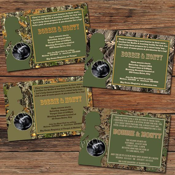 14 best camo baby shower invitations images on pinterest camo baby realtree camo camouflage baby shower invitations or thank you cards sonogram ultrasound 10 designs to choose filmwisefo