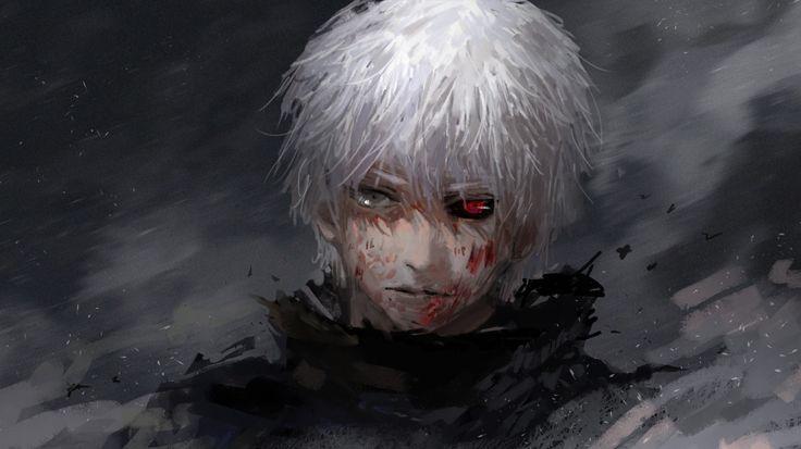 1366x768 Wallpaper tokyo ghoul, kaneki ken, guy, anime, face