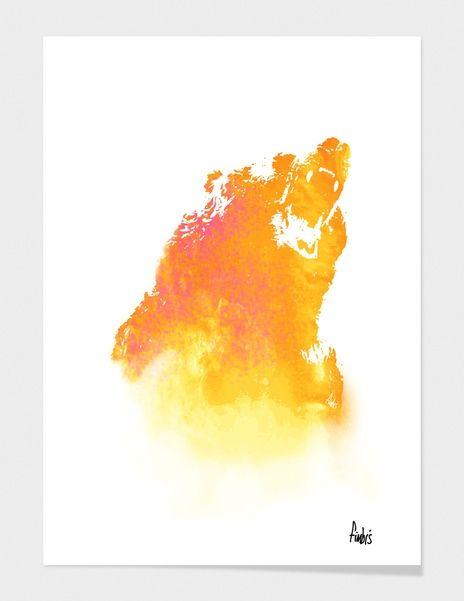 """Curioos.com   """"Hear Me Roar!"""" by Fimbis  - Gallery Quality Art Print"""