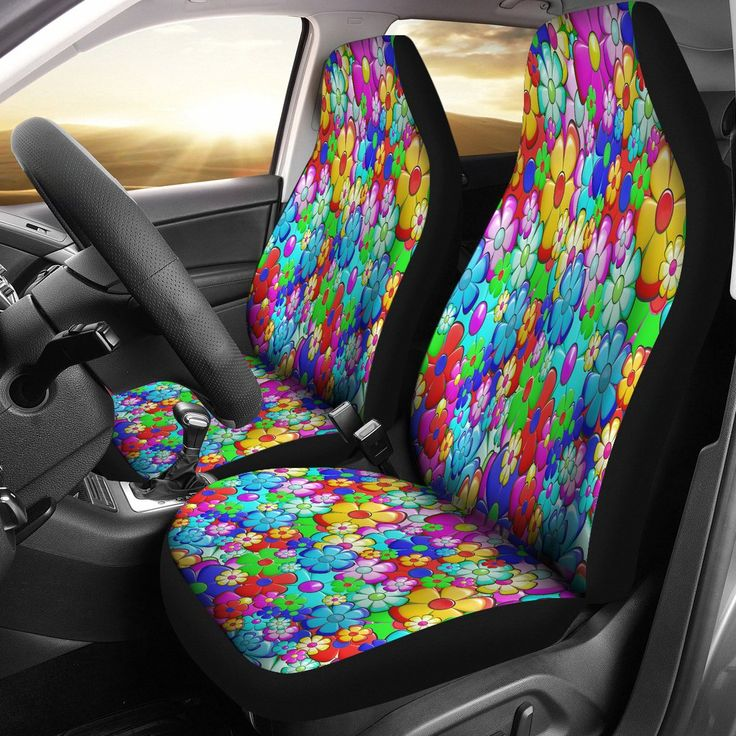 Bright Flower Summer Custom Car Seat Covers Bright