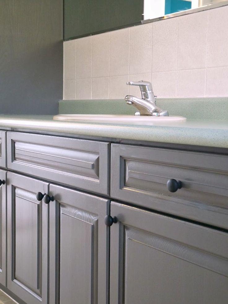 Best 25 cabinet transformations ideas on pinterest - Refinishing bathroom cabinets ideas ...