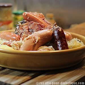 La photo n'est pas géniale mais si l'appétit est là, vous vous régalerez ! On se permet une petite choucroute garnie Alsacienne ?
