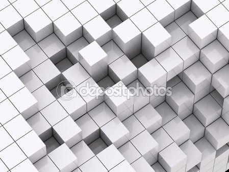 Některé kostky dostat odpojen abstraktní pozadí — Stock Fotografie ...