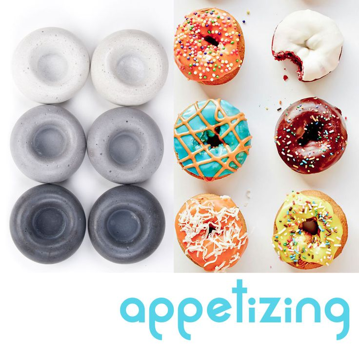 concrete can be appetizing  #donuts #concrete #food #concretetealightholders #abconcretedesign