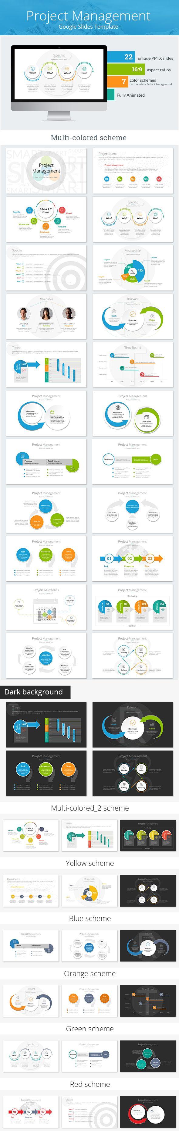 Project Management Google Slides Template - Google Slides Presentation Templates