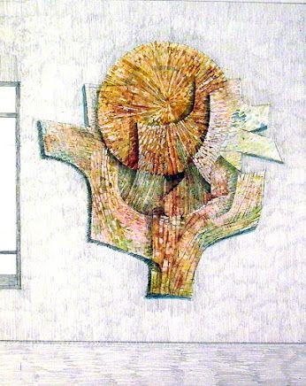 Eva Prokopová nvrh na plast. mozaiku na školu Praha