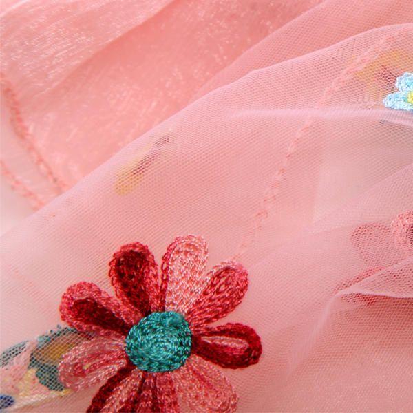 LYZA Women Soft Mesh Yarn Flower Embroidery Scarf Elegant Party Beach Scarves Shawl at Banggood