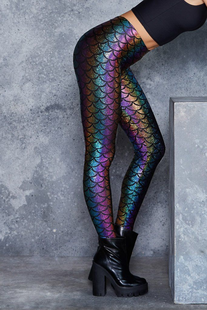 Mermaid Candy Leggings - Sale! Up to 75% OFF! Shot at Stylizio for women's and men's designer handbags, luxury sunglasses, watches, jewelry, purses, wallets, clothes, underwear
