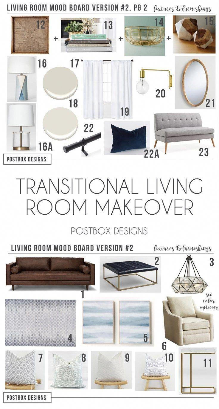Postbox Designs Interior E-Design: Transitional Living Room Design Neutral Family Room Makeover Online Interior Design #int\u2026 | Interior Design Online ...