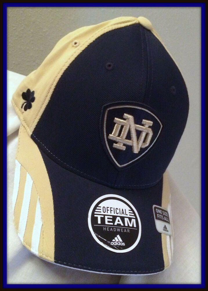 detailing authorized site cheap for sale NOTRE DAME IRISH EMBROIDERED FLEX FIT CAP BY ADIDAS NEW WITH TAGS ...