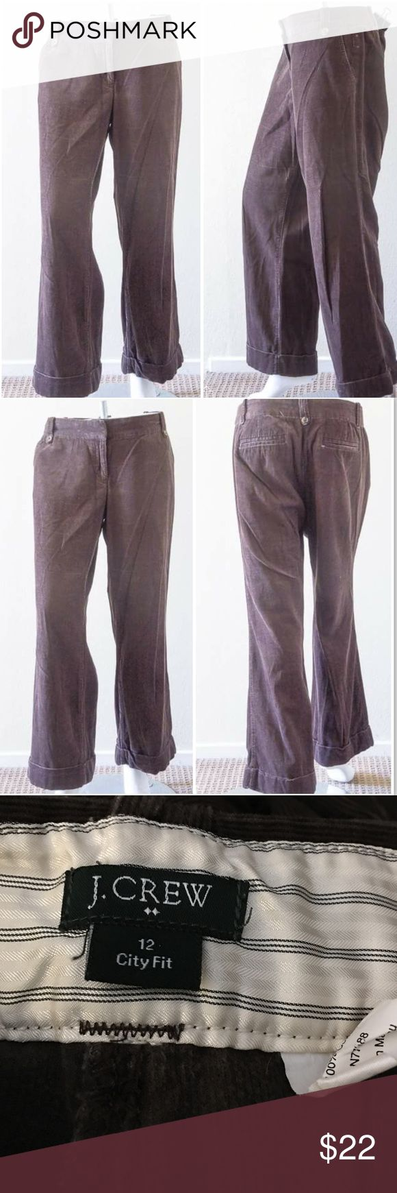 """J. Crew City Fit Luxe Cord Trouser Pre-owned in excellent condition. These classic wide-leg cords are made of 100% cotton. Inseam 30"""". Made in Macau. Machine wash cold. J. Crew Pants Wide Leg"""