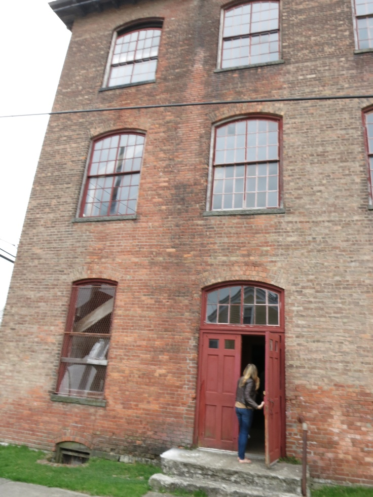 On location photoshoot at the old Pocketbook Factory in Hudson, NY
