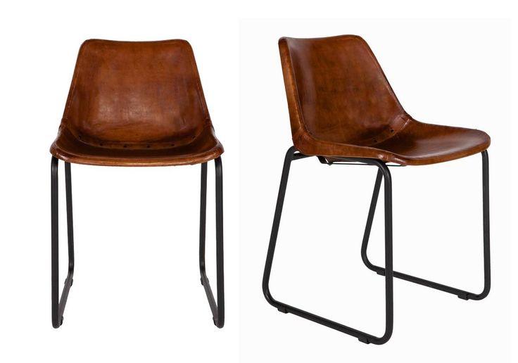 1000 id es propos de chaises en cuir marron sur for Chaise cuir marron