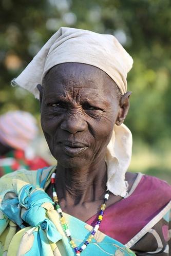 woman in white headwrap