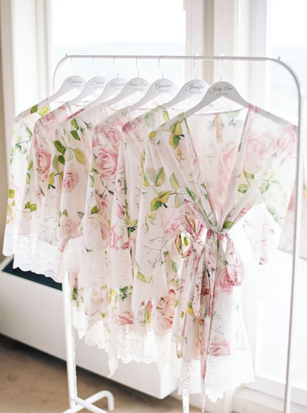 Floral bridesmaid robes - wedding gifts for bridesmaids