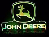 John Deere Tractor Logo LED Lamp Night Light Signs