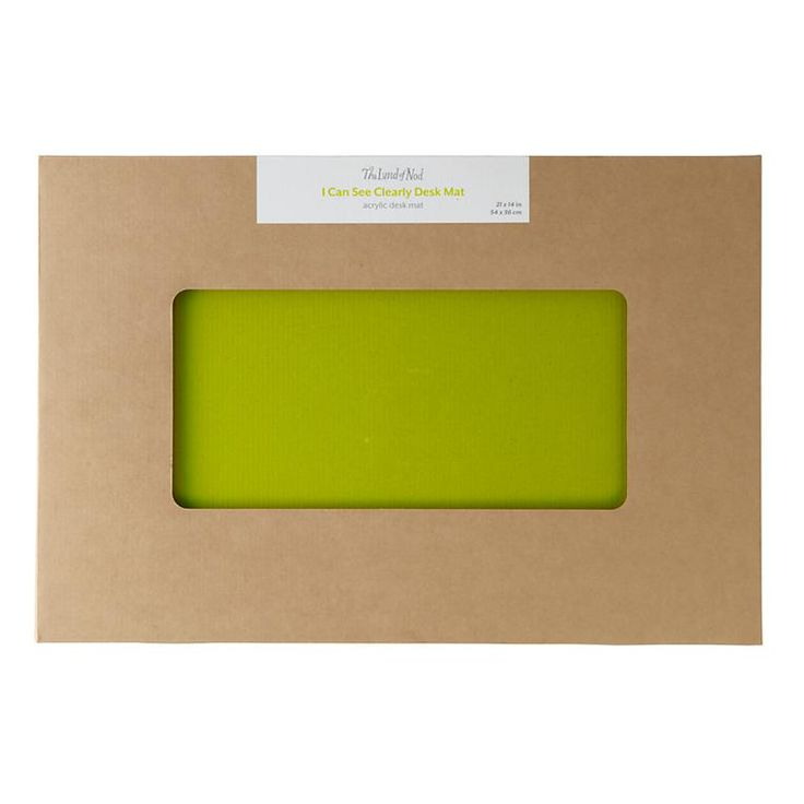 I Can See Clearly Now Desk Mat (Neon Yellow)   The Land of Nod