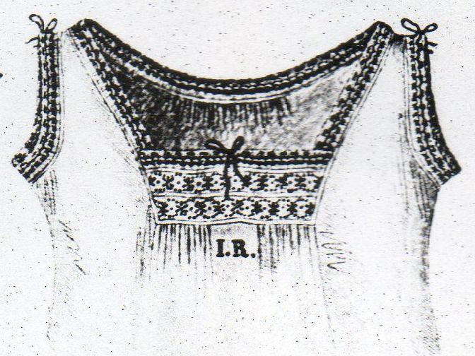 Chemise from Budapesti Bazár 1879