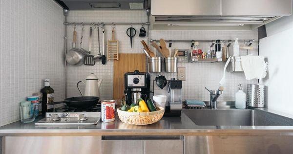 小さいキッチンが使いやすくなる工夫 料理好きさんのアイデアとは キナリノ 狭い キッチン キッチンダイニングルーム キッチン