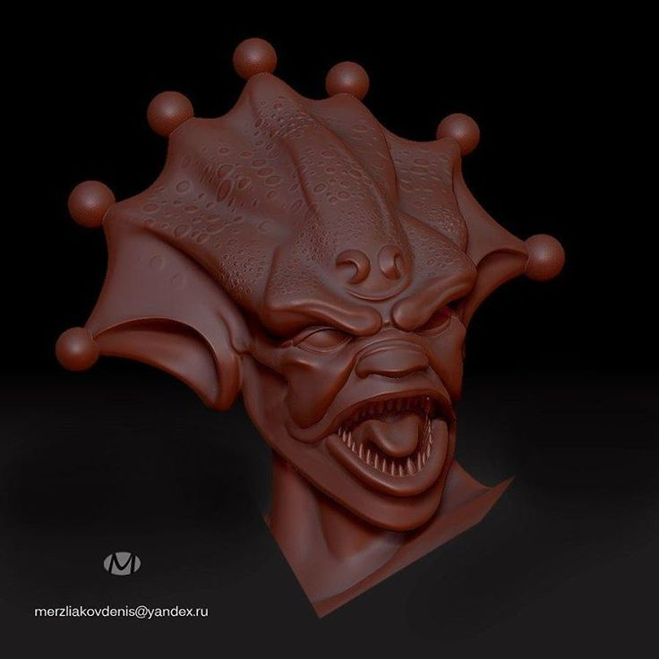 Делаю новую фигуру #zbrush #3dprint #3d #model #3dmodel #art #monster #creature #alien #monstrosity #sculpture #humanoid #work #cinema #2017 #hard #horror #bust #hero #cartoon #designer #character #designcharacter #fantasy