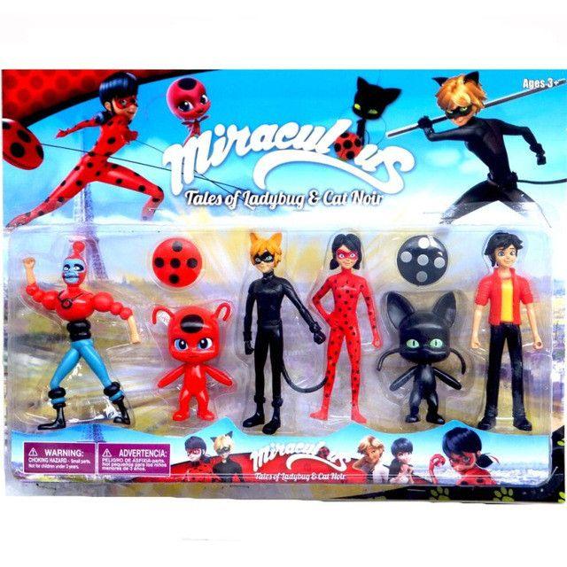 Neu 6Pcs Miraculous Ladybug Action Figure Puppe Spielzeug Geschenk de