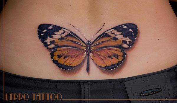 Tatouage papillon 3D