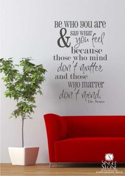 Wall Decal Quote Be Who You Are  Vinyl Wall by singlestonestudio, $48.00