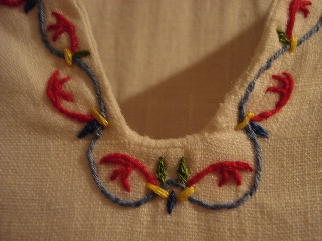 Medieval Embroidery #embroidery #medieval #handmade - for a more authentic look