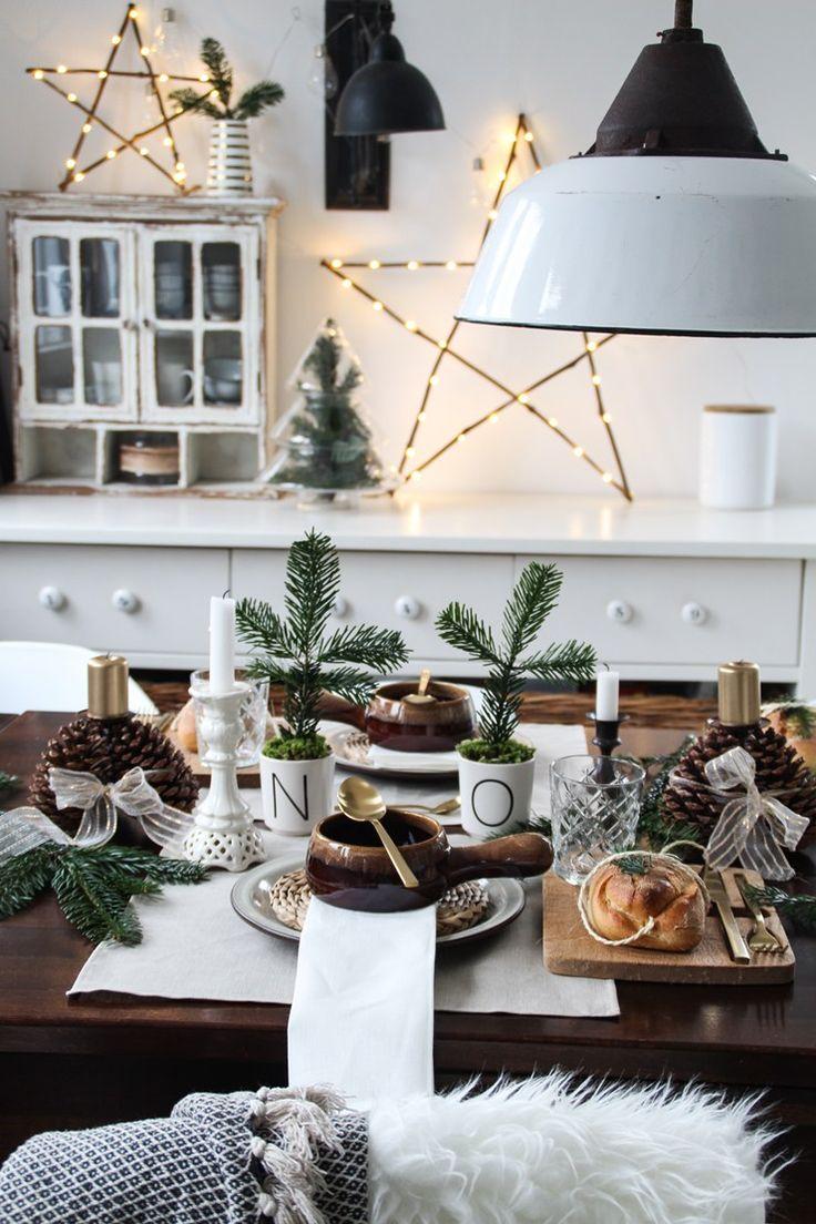 weihnachtliche tischdeko selbermachen  deko weihnachten
