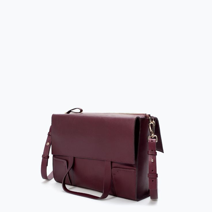 Image 2 of LEATHER SHOPPER BAG from Zara