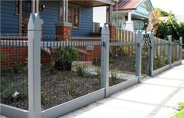 WOVEN WIRE FENCE AND GATES WITH ALL FEATURE POSTS