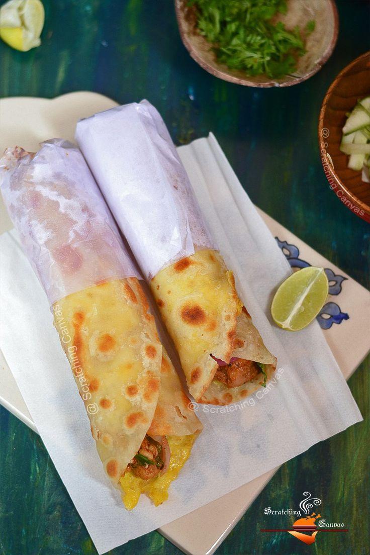 Bengali Chicken Kati Roll Recipe | Kolkata Street Food                                                                                                                                                                                 More