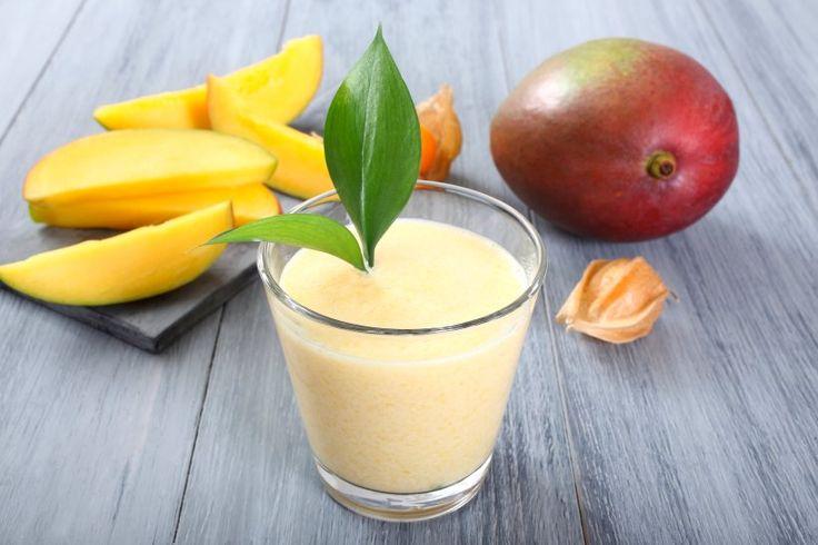 Mango-Molke-Smoothie mit Ingwer und Dinkel - Ingwer im Smoothie? Ja, die…
