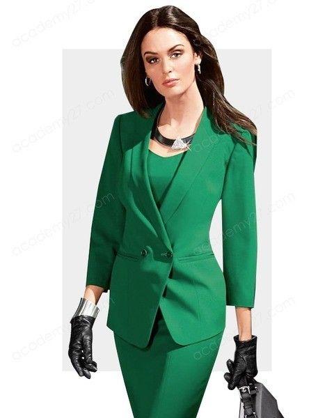 ЗЕЛЕНЫЙ  Ассоциации: спокойствие, радость, креативность.  Влияние: используйте зеленый, чтобы создать образ оптимистичной и уверенной в себе женщины, способной быстро адаптироваться к любым жизненным поворотам. Также надевайте зеленый, чтобы создать впечатление творческого человека.   Когда уместен: костюм зеленого цвета идеально подойдет, чтобы настроить и сориентировать партнеров на длительное сотрудничество.