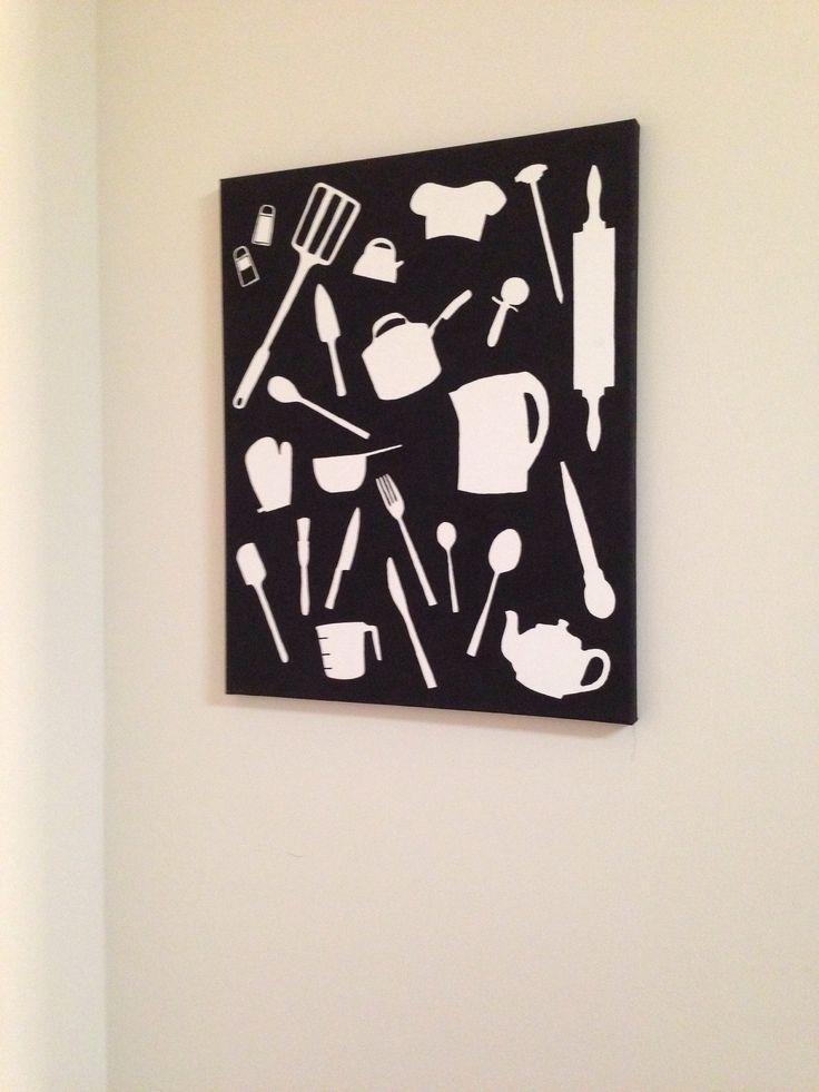 DIY Canvas Wall Art Kitchen Crafty Pinterest