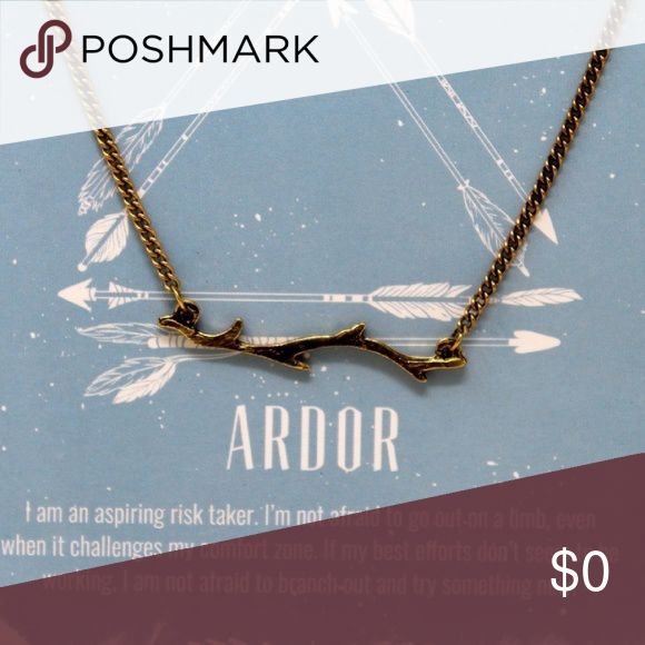 Ardor Necklace Ardor necklace. Means your not afraid to take a chance , go out on a limb. Jewelry Necklaces