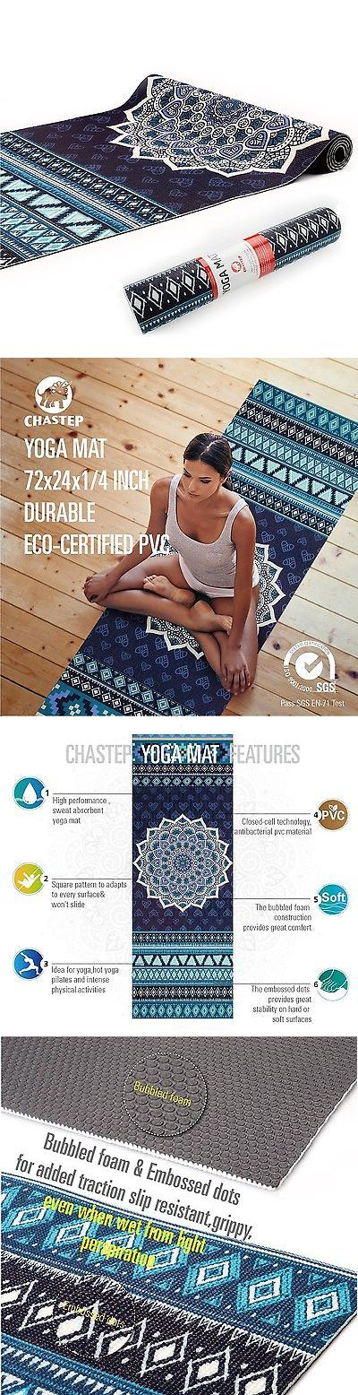 Mats and Non-Slip Towels 158928: Chastep Original Excercise Yoga Mat Premium Printed Extra Long 72 X 24 X ... New -> BUY IT NOW ONLY: $44.29 on eBay!