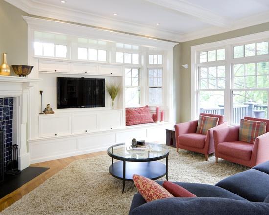tv display cabinet built in shingle style living room living room boston lda interiors