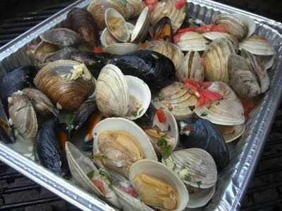 how to cook mussels on the grill
