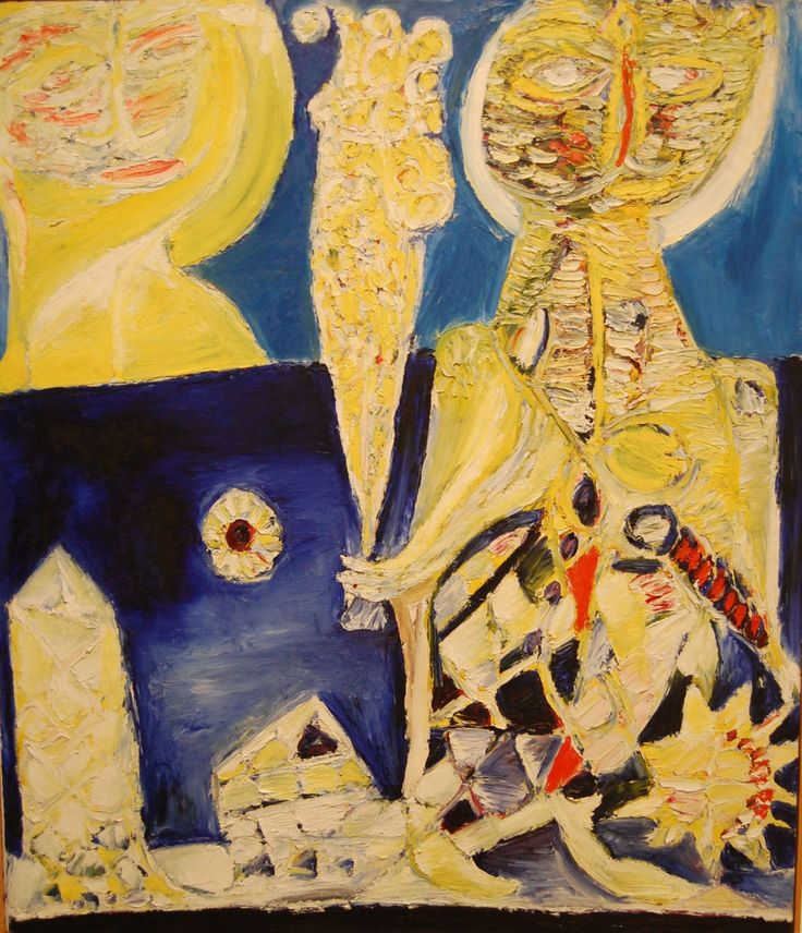 Carl-Henning Pedersen (Danish, 1913-2007) - The Suitor (1950)