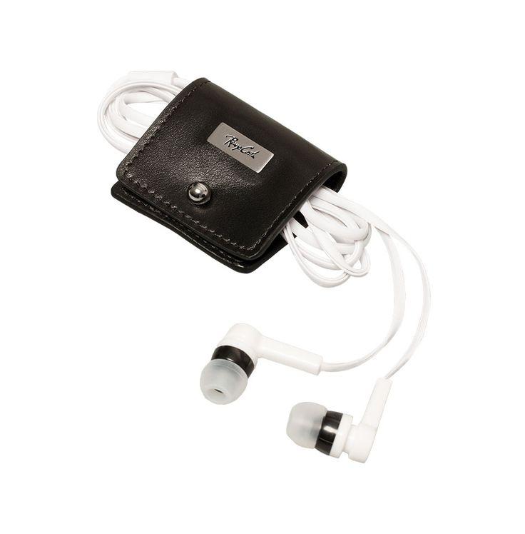 Accesorios para tu amiga secreta | Porta audífonos de cuero mujer | Renzo Costa