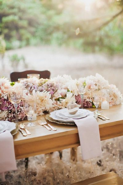 Palest Pink Table Setting