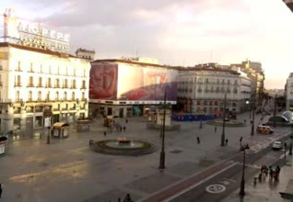 Puerta del Sol, Madrid. Webcam.