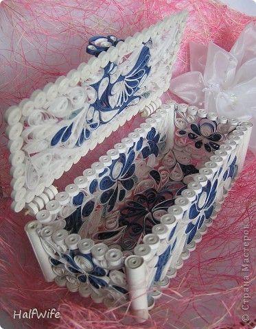 Handicraft product Quilling Bird of Gzheli Photo Paper 1