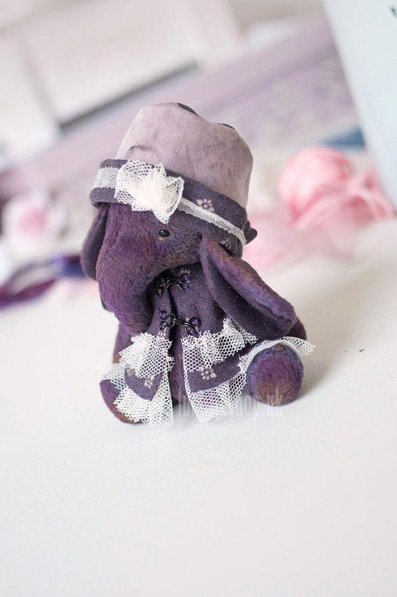 Artist bear collectable handmade miniature elephant by LunaticShop